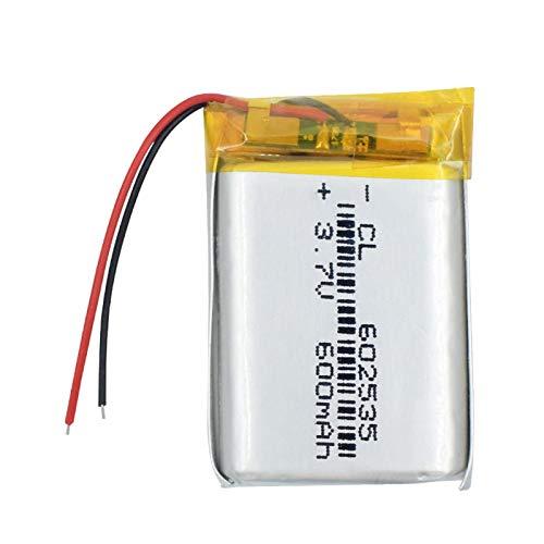 Batería de Litio de polímero de Litio 602535 3,7 v 600 mah batería de Iones de Litio de Repuesto Mini 602535 batería de Iones de Litio 2pieces