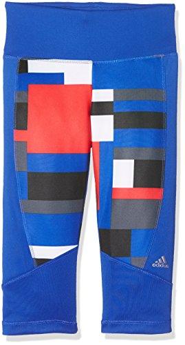 adidas YG T Y TF 3/4 T - Capri Leggings - Junge, Blau, 158