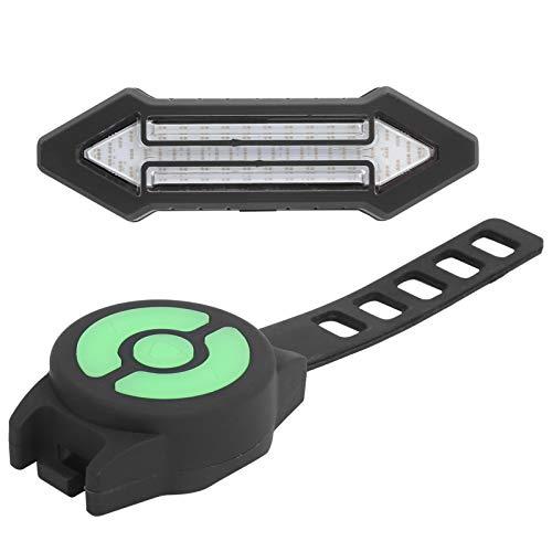 Luz trasera de bicicleta, con tres botones fáciles de usar, cuatro modos, suficiente brillo, luces traseras de bicicleta LED recargables, para muchas situaciones al aire libre, señal de advertencia