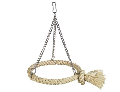 """Nobby Cage Toy, Sisal Schaukel \""""Ring\"""" natur"""