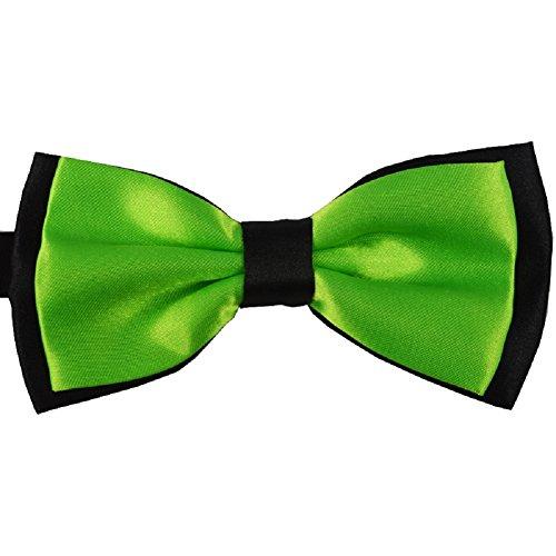 S.R HOME Noeud Papillon double couche Vert pour mariage, travail ou tout autre événement