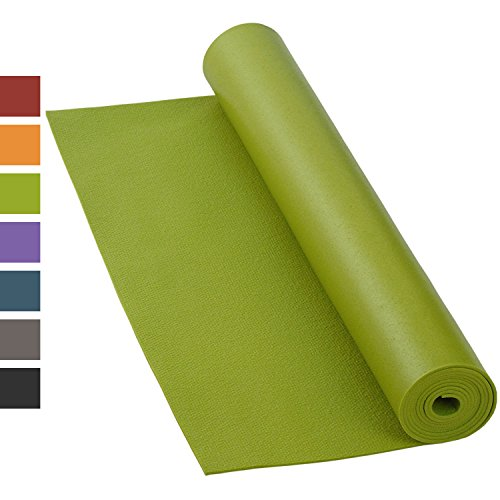 Yogamatte RISHIKESH PREMIUM 80 XL, rutschfest, groß & extra-stark, 4,5mm Studiomatte, Ökotex 100, maschinenwaschbar, lang: 200 x 80 cm (olive-grün)