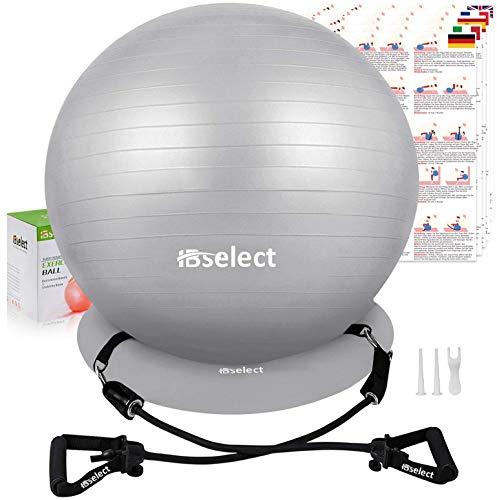HBselet Gymnastikball Sitzball Gymnastic Ball Medizinball Pezziball mit Wiederstands Bänder...
