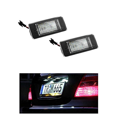 2x Neu LED SMD Kennzeichenbeleuchtung Nummernschildbeleuchtung Weiß (031906OPL)