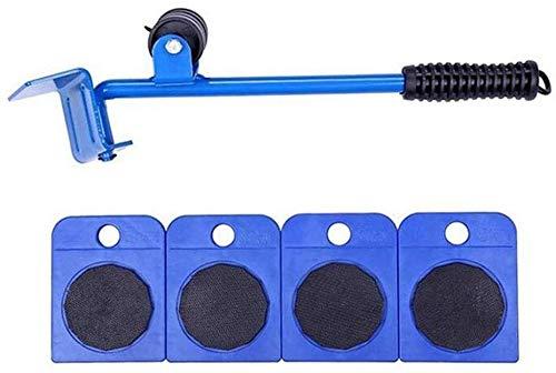 TXOZ-Q Portátil Mover Muebles Roller Set, 1 de elevación Rod y 4 moviendo Muebles Rodillos, Mover hasta 150 kg / 330 lbs, adecuados for los sofás y refrigeradores