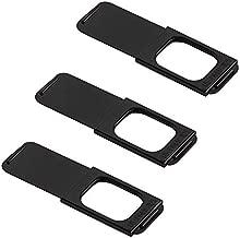 "C-Slide Webcam Cover 3 Pack - Thin Sliding Laptop Cam Blocker, Black, 1.5"" x 0.5"" and 1.5mm Thick - Thin Cam Slide Blocker for Computer, Tablet, Echo, Chromebook & More"