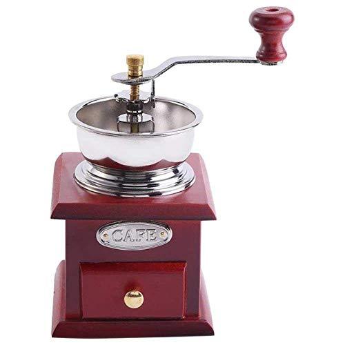 Nfudishpu manuelle Kaffeemühle, Cafe mit Keramik Mühlstein Retro koffiemok Kaffee Gewürzmühle Schleifwerkzeug Home Decoration