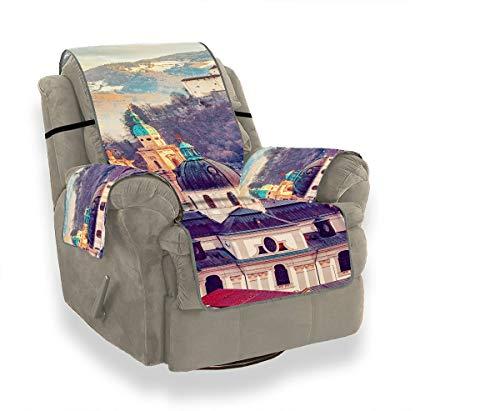 JEOLVP Salisburgo Austria Europa Città Alpi Mozart Fodere per mobili Divano Divano Cuscino per sedili Sedia Impermeabile Fodera per mobili Protezione per Animali Domestici, Bambini, Gatti, Divano