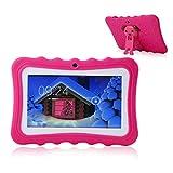 TEEPAO Tablette Tactile Enfants,Tablette 7 Pouces WiFi,Android 4.4,IPS HD 1024x600,Silicone Housse de Béquille,Tablette avec...