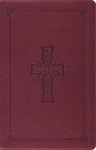 ESV Large Print Thinline Reference Bible (TruTone, Burgundy, Celtic Cross Design)