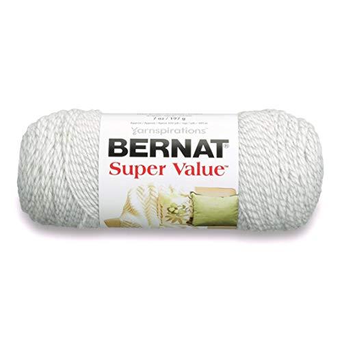 Bernat Super Value Garn, acryl, Grau Ragg, 1-Pack