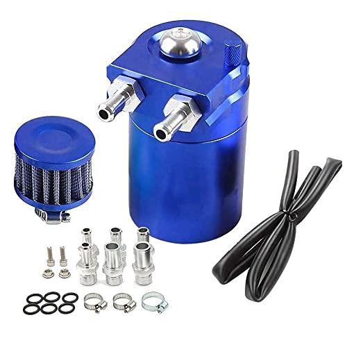 Cattura 300ml Alluminio Oil Can Auto Reservoir Tank Universal Aria Olio Seperator Con Filtro Aria, Tubi E Altri Accessori (Blu)