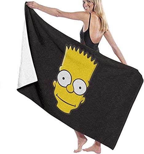 NIUPEE Bart Simpson - Juego de toallas de baño de microfibra para baño, toallas de baño, toallas de baño de microfibra