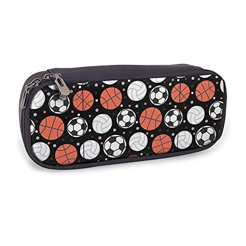 Estuche deportivo de baloncesto, fútbol, béisbol, para niñas, niños, adultos, linda bolsa de cuero