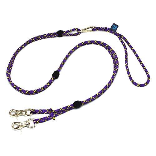 ドッグ・ギア ザイルリードタイプW ロープ径6mm 全長80cm パープル 「大切な愛犬を迷子犬にしないためのリ...
