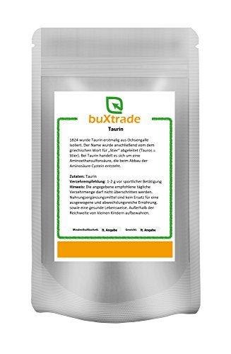 Buxtrade 500 g Taurin | Pulver | Aminosäure | Sport | Nutrition | Taurine