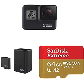 GoPro HERO7 Black + Dual Battery Charger + (1) microSD Card