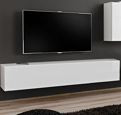 muebles bonitos – Mueble TV Modelo Berit H180 Blanco