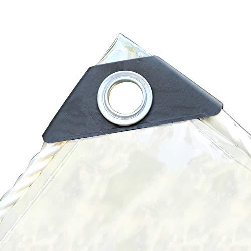 Lonas Transparentes, Lonas Impermeables Resistentes Al Desgarro Para Exteriores Con 10 Piezas De Bola Negra Bungee Lámina De Vinilo Resistente Lona Para Acampar Para Balcón, (Size:1.8×2.5M/ 5.9×8.2ft)