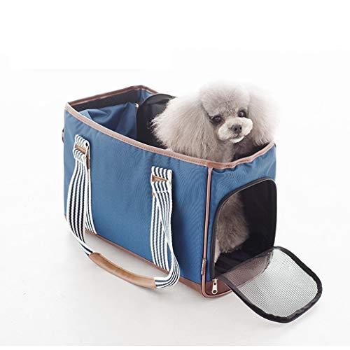 JXLBB Pet Out Sac Pack Sac À Dos Chat Chien Style Coréen Léger Et Respirant Toile Pet Sac (Color : Blue)
