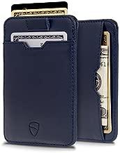 Vaultskin CHELSEA ultra-slim RFID-blocking luxury leather card wallet (Navy Blue)