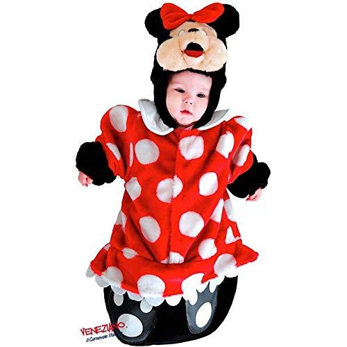 Babyshop Faschingskostüm rot 88381 ab Geburt Mauskostüm Mädchen Kapuze Klettverschluss