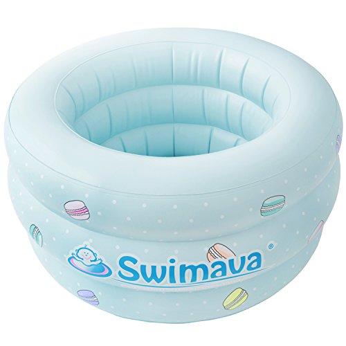 Swimava 【日本正規品60日保証】スイマーバ ふわふわベビーバス マカロンバス SW150GN-P