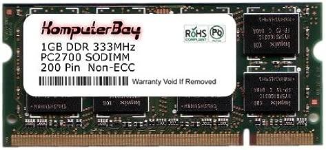 Komputerbay 1GB DDR SODIMM (200 pin) 333Mhz DDR333 PC2700 FOR Apple Mac Memory PowerBook G4 1.67GHz 17-inch SuperDrive (M9689LL/A) 120 1 GB