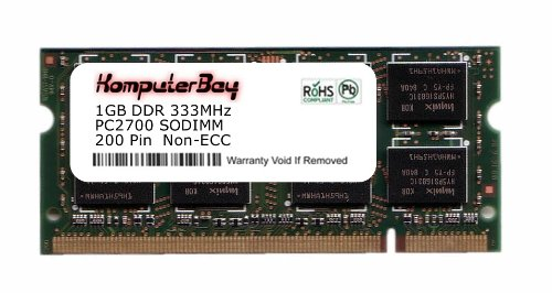 "SODIMM Komputerbay 1GB DDR (200 broches) 333Mhz DDR333 PC2700 pour Apple Mac PowerBook G4 1GHz Mémoire, 1,33 GHz, 1,5 GHz 17 \ (A1013) 110 ""1 Go"