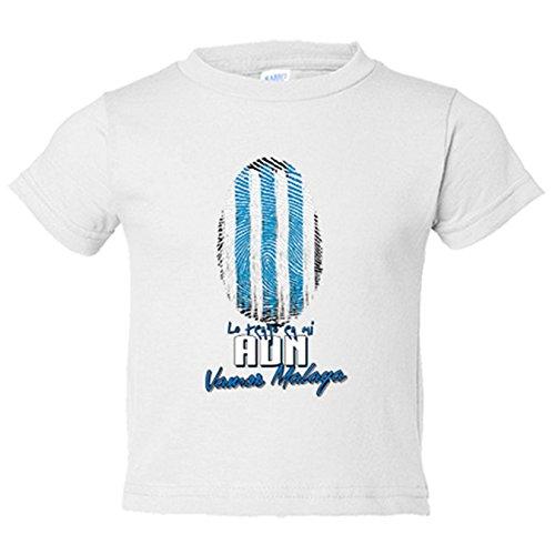 Camiseta niño lo tengo en mi ADN Málaga fútbol - Blanco, 12-14 años