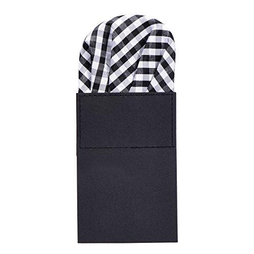 DonDon pañuelo para hombres ya doblado para asiento perfecto