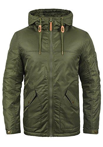 Redefined Rebel Mandeville Herren Übergangsjacke Herrenjacke Jacke mit Kapuze, Größe:L, Farbe:Dark Olive