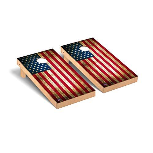 Victory Tailgate Vintage American Flag Cornhole Set