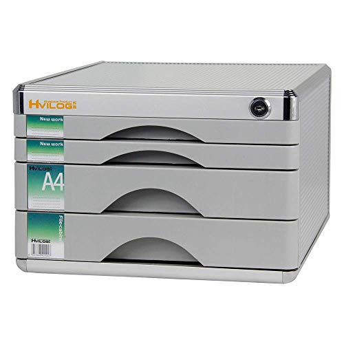 LHQ-HQ Büro Tabelle File Organizer Multi-Frame-Fach-Art-Sammlung Schrank/Aluminiumlegierung Gurtschloss Desktop Storage Cabinet.Praktisch Zeitungsständer