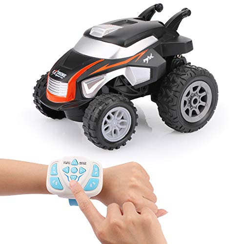 HITTEN 360°Watch The Wireless Remote Control Stunt Car, Remote Control Car for Boys, RC Stunt Car for Kids, 360° Rotation, Upright Driving, Best Gift for Child Aged 4 to 10 (Black)