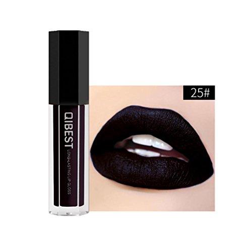 28 Schattierungen Lippenstift Huihong QIBEST Neue Lippe Dessous Matt flüssigen Lippenstift Wasserdicht Lipgloss für Makeup, 2 EUR (Sexy-25)
