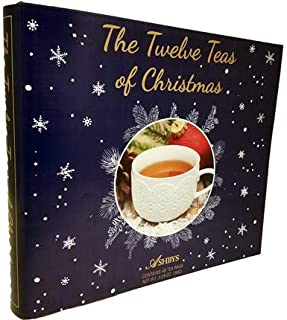 The 12 Coffees, Teas or Cocoas of Christmas (Your Choice) Gourmet Gift Box Set - Best Xmas Present For Friends, Family, Coworkers, or Teachers (Tea)