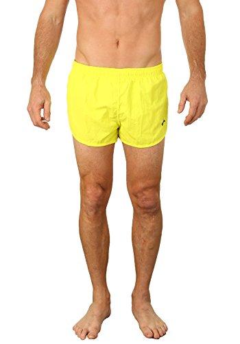 UZZI Men's Basic Swim Shorts Swimwear Trunks NEON Yellow (XL)