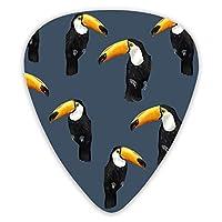 ギターピック オオハシ 黒い ティアドロップ型 ピック Guitar Pick 12枚セット(0.46mm,0.71mm,0.96mm各四枚入り)