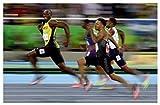 ZYHSB Póster E Impresión Usain Bolt Rio Olympics Running 100M Wall Art Canvas Picture Dormitorio Decoración para El Hogar Jq1340Zw 40X60Cm Sin Marco