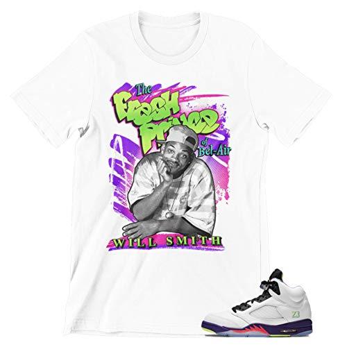 Shirt to Match Jordan Sneakers (Jordan 5 Bel Air White, XX-Large)