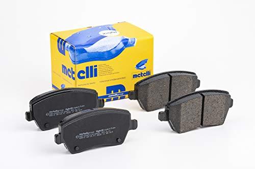 metelligroup 22-0485-0 Pastiglie Freno anteriori, Made in Italy, Pezzo di Ricambio per Auto   Automobile, Kit da 4 Pezzi, Certificate ECE R90, Prive di Rame