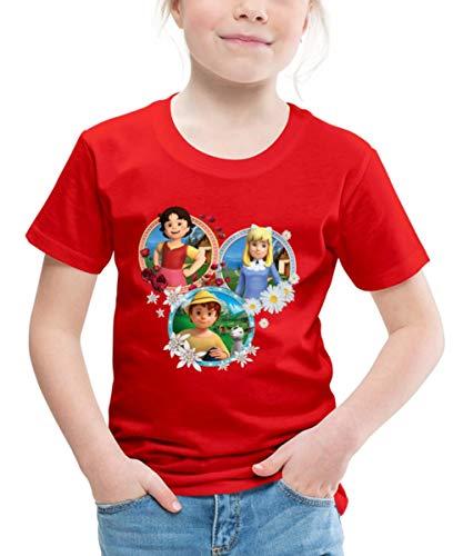 Heidi Freundschaft Peter Clara Kachel Freunde Kinder Premium T-Shirt, 122-128, Rot