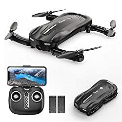 Potensic Mini Drohne mit Kamera, D18 Faltbare 1080P WiFi FPV Quadrocopter mit Optischem Fluss und Zwei Batterien, Höhe Halten, Antikollisions RC Drohne für Kinder Anfänger und Experte
