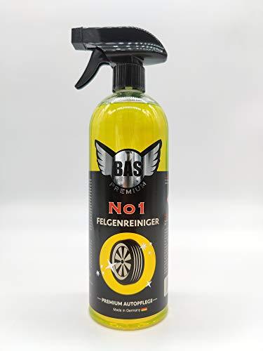BAS Premium Felgenreiniger - Made IN Germany - Felgen reinigen im Handumdrehen für Alufelgen & Stahlfelgen - Säürefrei ! - 750ml
