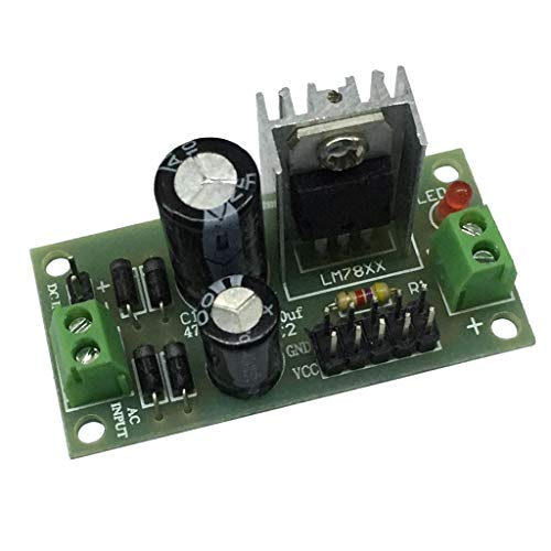 DC/AC, 15V-24V Voltage Regulator Módulo de Fuente de Alimentación de Tres Terminales L7812 LM7812 para Arduino