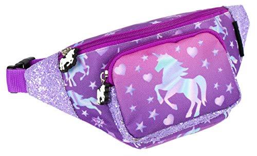 Fringoo - Gürteltasche für Mädchen   Geeignet für Mädchen oder Jugendliche   Gürteltasche mit verstellbarem Gürtelgurt - Einhorn
