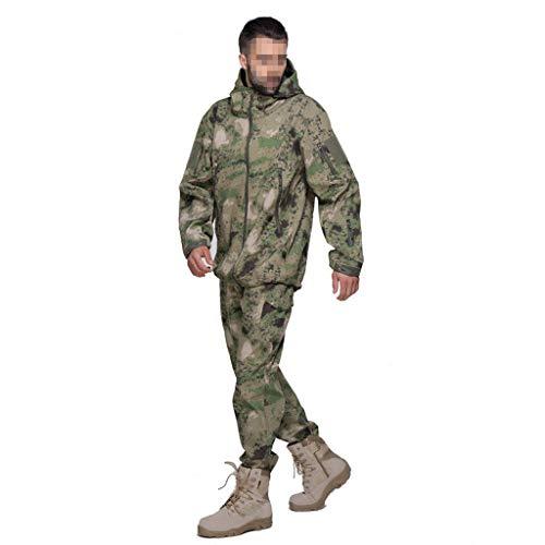 SXZHSM Camouflage Uniform jas Training Jacht Sport Bergbeklimmen tas Mountainbike Camouflage groen winddicht waterdicht camouflage