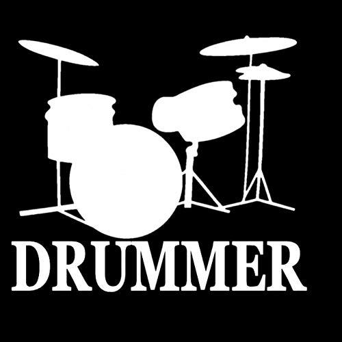 MCTYLI 14.3CM*12.5CM Drummer Snare Bass Pedaal Drumset Drum Hoge Hoed Vinyl Auto Sticker