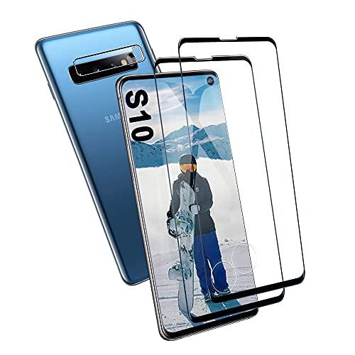 Galaxy S10 Panzerglas Schutzfolie, [2 Stück] Hohe Qualität Gehärtetem Glass [HD Clear] [9H Härte] [Kratzfest] [Blasenfrei] Panzerglasfolie für Samsung Galaxy S10
